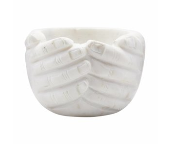 House Doctor Hands skala hvit 15x15x10cm