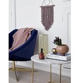 Bloomingville Elegant blå fløjlslænestol