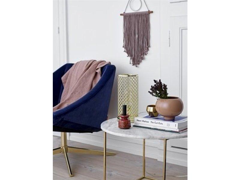 Bloomingville Elegant fauteuil blauw velours