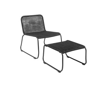 Bloomingville Mundo lounge chair black 58x77x73cm