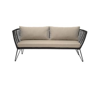 Bloomingville Mundo sofa black 175x72x74 cm