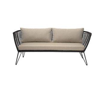Bloomingville Mundo Sofa schwarz 175x72x74 cm