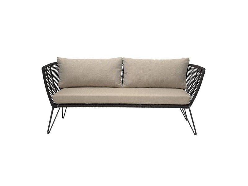 Bloomingville Sofa zwart 175x72x74 cm