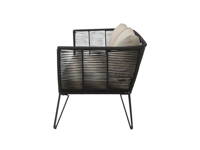 Bloomingville Sofa schwarz 175x72x74 cm