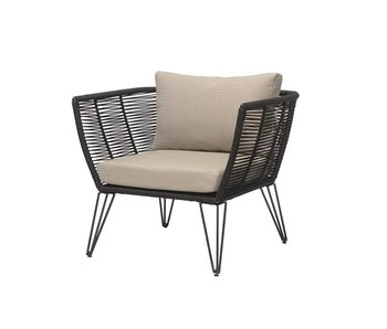 Bloomingville Mundo lounge chair black 87x72x74cm