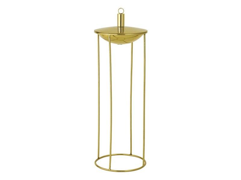 Bloomingville Oil lamp gold Ø19x57cm