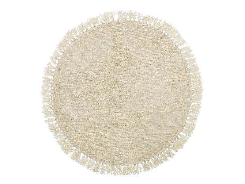 Bloomingville Teppich Wolle um Ø110cm