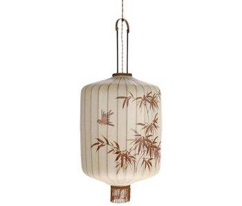 HK-Living Lantaarn lamp L créme 42x42x92cm