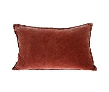 HK-Living Cushion velvet terracotta 40x60cm