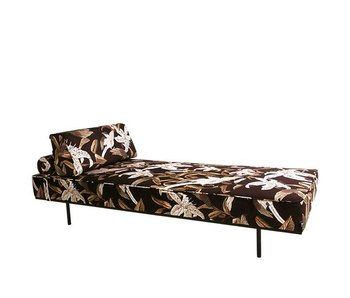 HK-Living Daybed velours floral 200x80x41cm