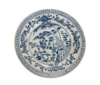 HK-Living Kyoto hand-painted plate - set of 4 pieces
