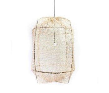 Ay Illuminate Hanging lamp Z1 black sisal net tea dyed ø67x100cm
