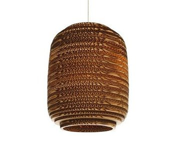 Graypants Ausi8 hanging lamp brown cardboard Ø19x24cm