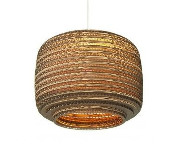 Graypants Ausi12 hanging lamp brown cardboard Ø28x20cm