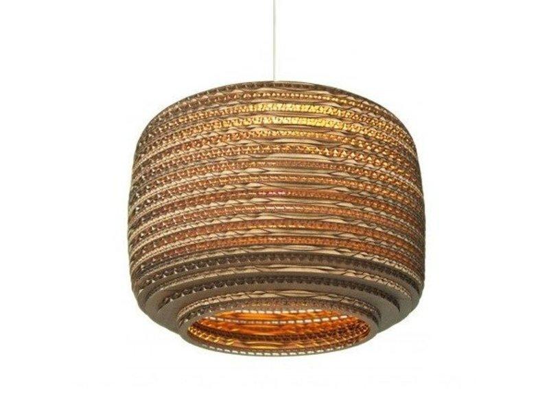 Graypants Ausi12 hanglamp bruin karton Ø28x20cm