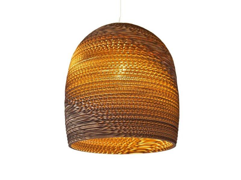 Graypants Bell16 hanglamp bruin karton Ø38x40cm