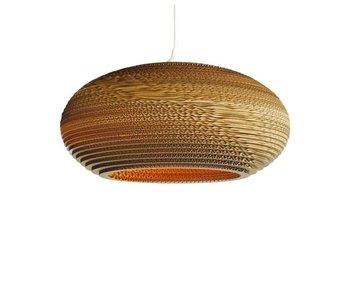 Graypants Disc16 hängande ljus brun kartong Ø43x19cm
