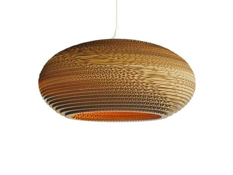 Graypants Disc20 hanglamp bruin karton Ø50x23cm