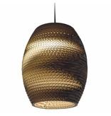 Graypants Oliv hängande ljus brun kartong Ø19x22cm