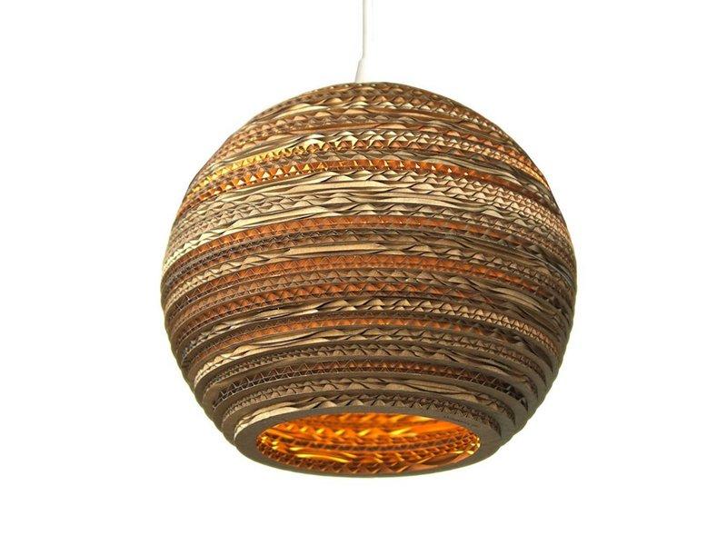 Graypants Moon10 hängande ljus brun kartong Ø26x22cm