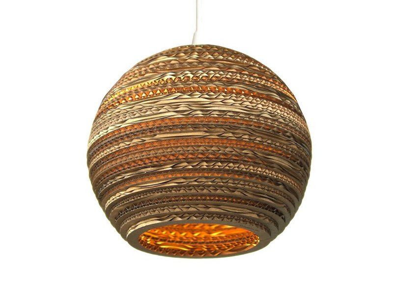Graypants Moon10 hanglamp bruin karton Ø26x22cm