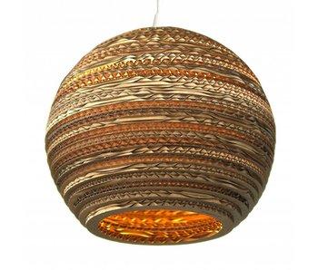 Graypants Moon14 hanging lamp brown cardboard Ø36x31cm