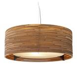 Graypants Drum24 hanglamp bruin karton Ø61x24cm