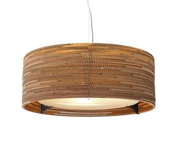 Graypants Drum24 hanging lamp brown cardboard Ø61x24cm