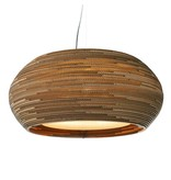 Graypants Ohio24 hanglamp bruin karton Ø61x24cm