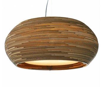 Graypants Ohio32 hanging lamp brown cardboard Ø82x33cm