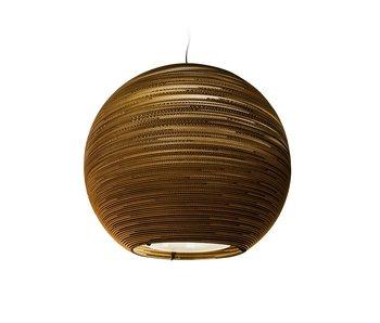 Graypants Sun48 hanging lamp brown cardboard Ø128x108cm