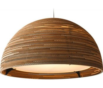 Graypants Dome36 hanging lamp brown cardboard Ø92x50cm