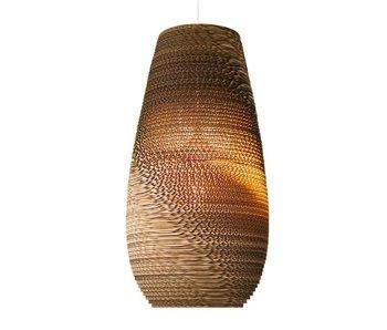 Graypants Drop18 hanging lamp brown cardboard Ø25x45cm