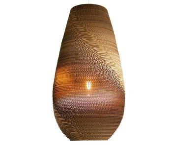 Graypants Drop26 hanging lamp brown cardboard Ø36x65cm