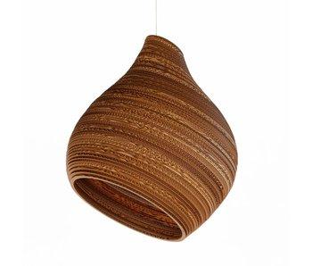 Graypants Hive9 hanging lamp brown cardboard Ø23x28cm