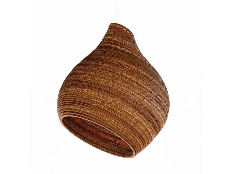 Graypants Hive9 vedhæng lys brun pap Ø23x28cm