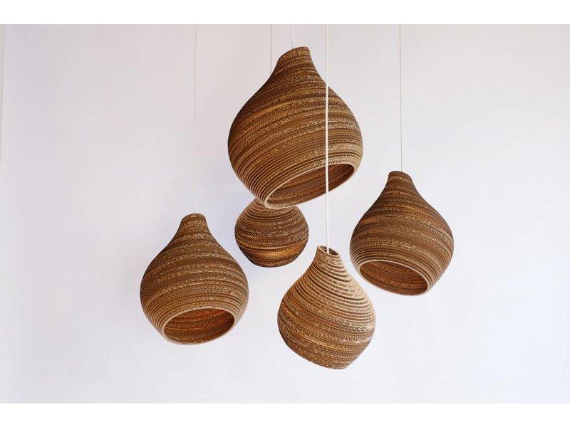 Graypants Hive12 hanglamp bruin karton Ø30x36cm