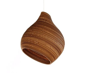 Graypants Hive12 hanging lamp brown cardboard Ø30x36cm