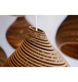 Graypants Hive15 hanglamp bruin karton Ø38x46cm