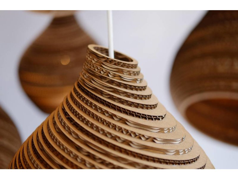 Graypants Nest32 hanglamp bruin karton Ø33x85cm