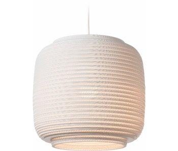 Graypants Ausi14 hanging lamp white cardboard Ø39x36cm