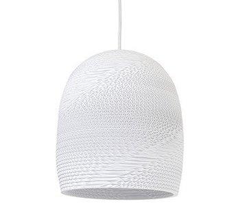Graypants Bell10 hanging lamp white cardboard Ø27x28cm