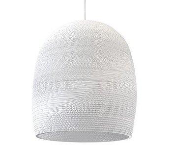 Graypants Bell16 hanging lamp white cardboard Ø38x40cm