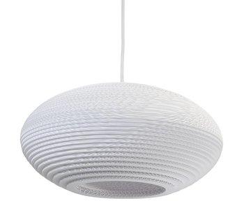 Graypants Disc16 lampe hvidt pap Ø43x19cm