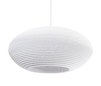 Graypants Disc20 hanging lamp white cardboard Ø50x23cm