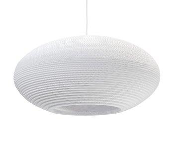 Graypants Disc24 hanging lamp white cardboard Ø61x26cm