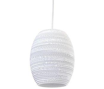 Graypants Oliv hanging lamp white cardboard Ø19x22cm