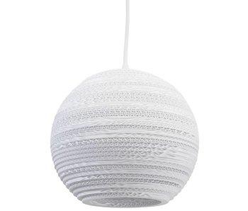 Graypants Moon10 hanging lamp white cardboard Ø26x22cm