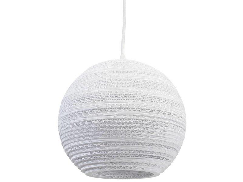 Graypants Moon10 Lampe weiße Pappe Ø26x22cm