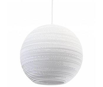 Graypants Moon14 hanging lamp white cardboard Ø36x31cm